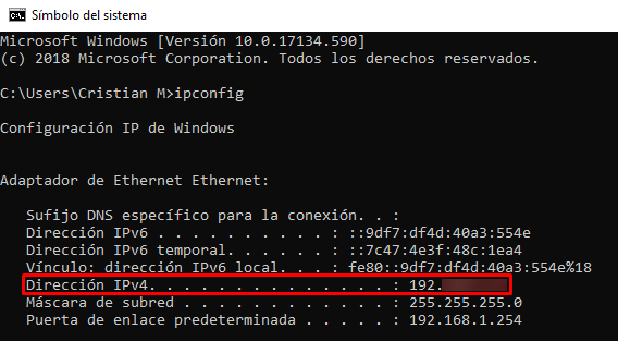 direccion-ip-windows
