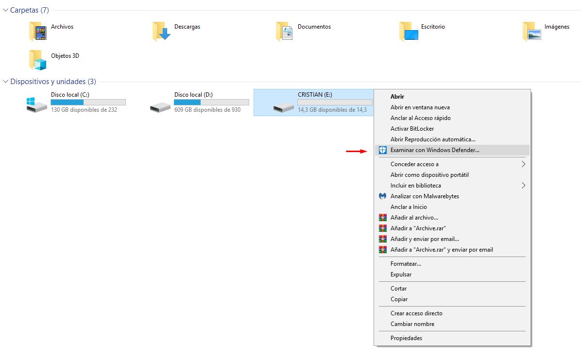 Analizar mi USB