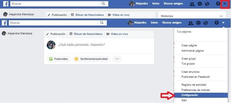 Cómo verificar si alguien más está accediendo a tu cuenta de Facebook - Facebook navegador web