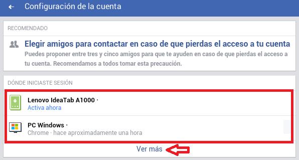 Cómo verificar si alguien más está accediendo a tu cuenta de Facebook - Facebook Lite