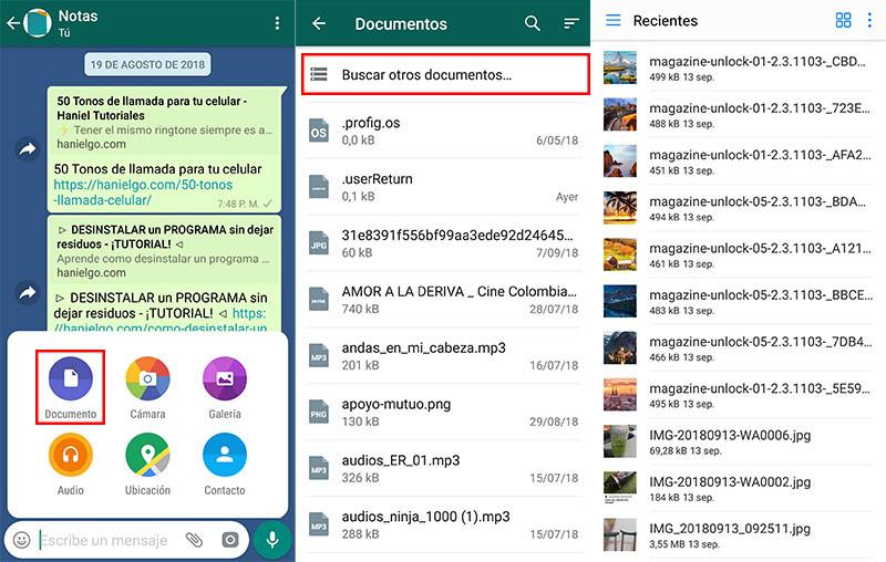enviar archivos pesados whatsapp